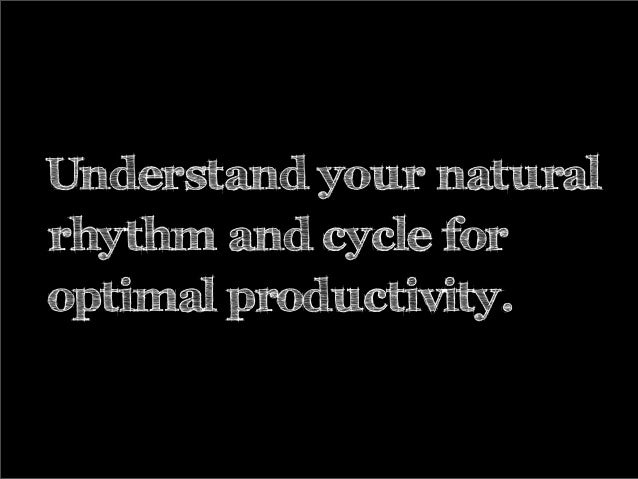 Understand your naturalrhythm and cycle foroptimal productivity.
