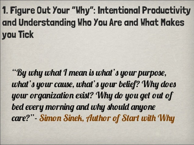 "1. Figure Out Your ""Why"": Intentional Productivityand Understanding Who You Are and What Makesyou Tick""B% w""% w""#. I /!#+ ..."