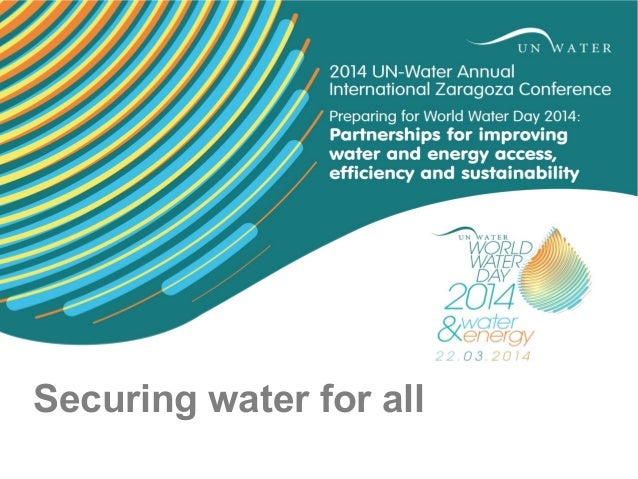Securing water for all