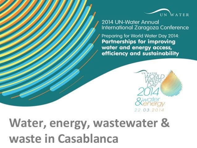 Water, energy, wastewater & waste in Casablanca