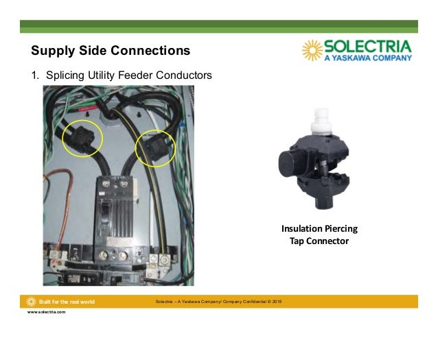 commercial design considerations \u0026 solectria solutionsLine Side Tap Diagram #17