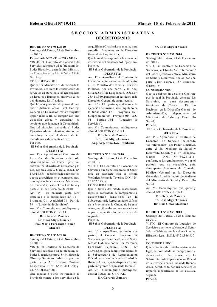 Boletín Oficial Nº 19.416                                                              Martes 15 de Febrero de 2011       ...