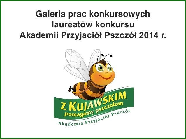 Galeria prac konkursowych laureatów konkursu Akademii Przyjaciół Pszczół 2014 r.