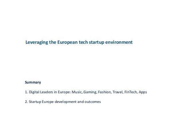 Leveraging the European tech startup environment Slide 2
