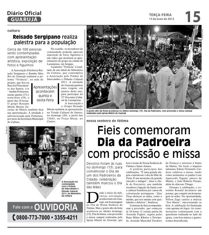 Diário Oficial de Guarujá - 15-05-12