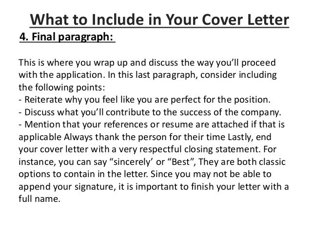 Application Cover Letter Writing A Guidelines