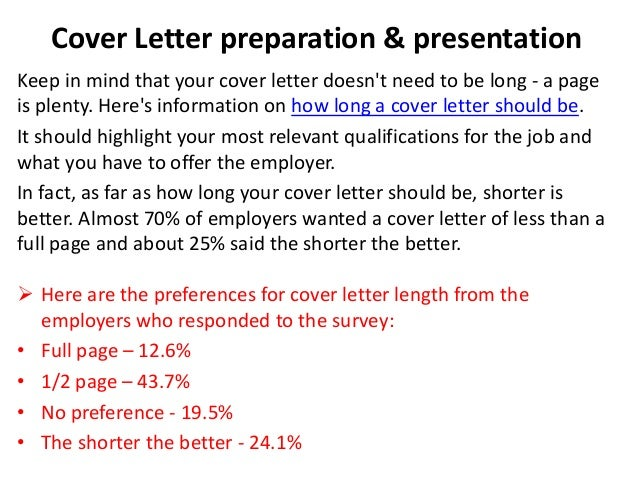 How Many Pages Should A Cover Letter Be Guidelines