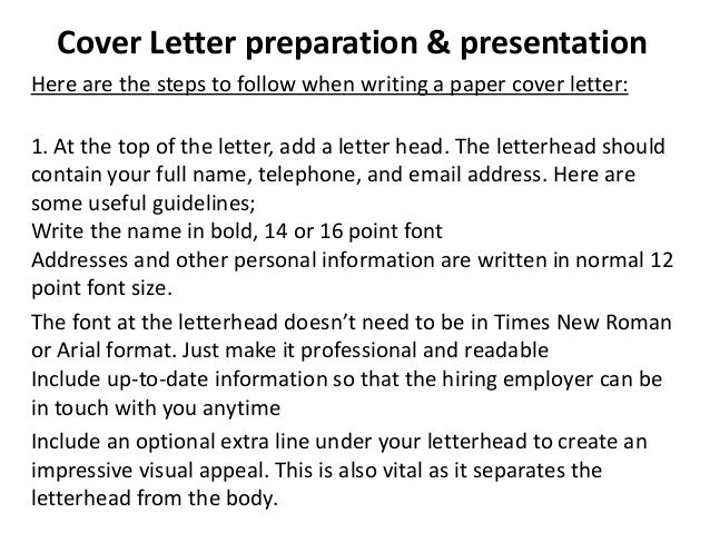 cover letter preparation 12 - What Should A Cover Letter Contain