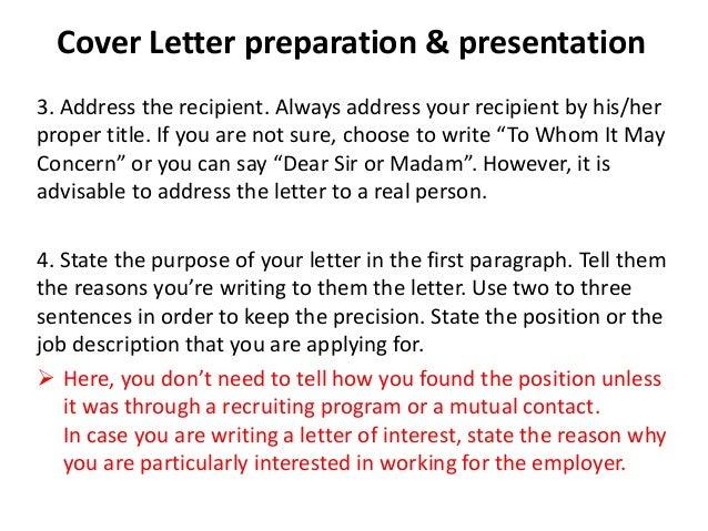 cover letter guidelines cover letter guidelines