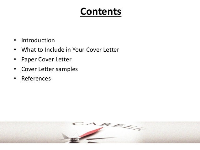Cover letter guidelines