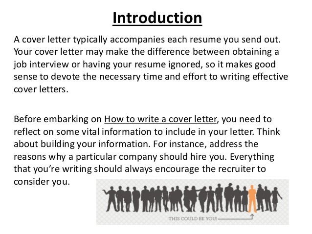 4. A Cover Letter ...  Writing An Effective Cover Letter
