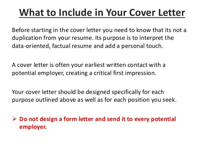 Introduction; 6. Before Starting In The Cover Letter ...  Cover Letter Guidelines
