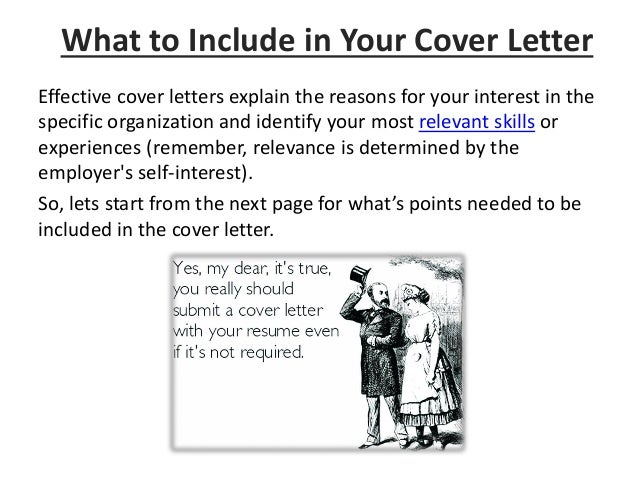 Effective Cover Letters ...