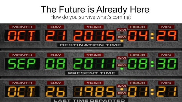 The Future is Already Here How do you survive what's coming? 08