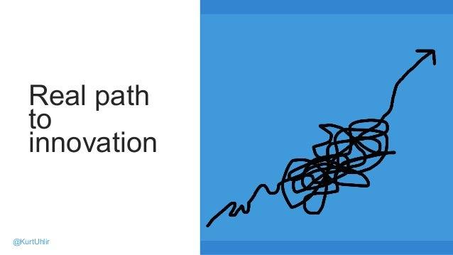Real path to innovation @KurtUhlir