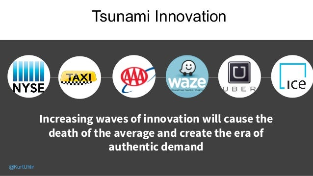 Tsunami Innovation Increasing waves of innovation will cause the death of the average and create the era of authentic dema...