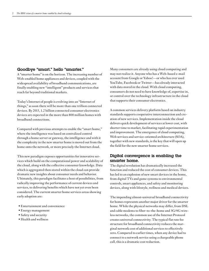 IBM Smart Home Vision Using Cloud Technology Slide 2