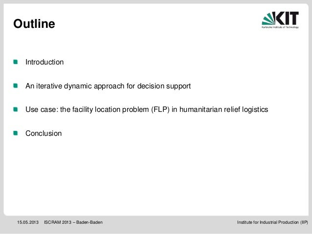 ISCRAM 2013: Building robust supply networks for effective and efficient disaster response Slide 2