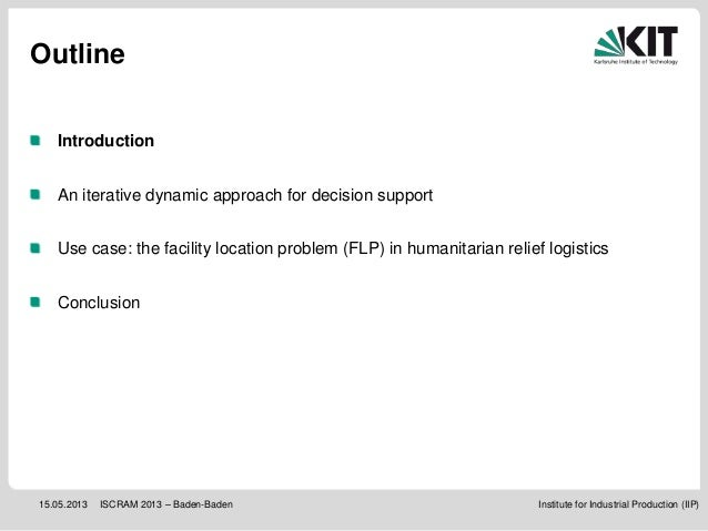 ISCRAM 2013: Building robust supply networks for effective and efficient disaster response Slide 3