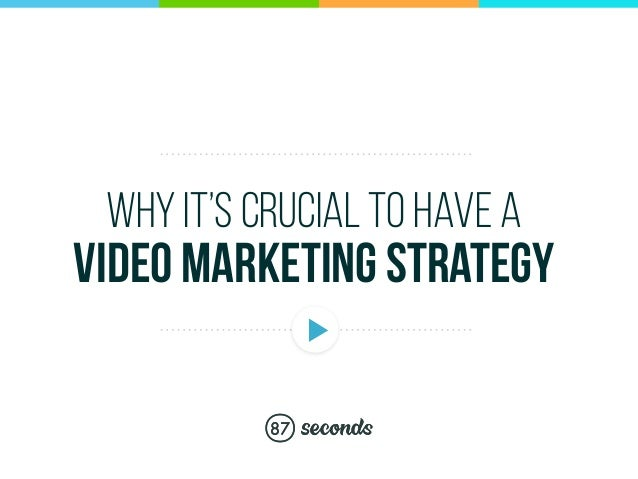 why it's crucial to have a video marketing strategy