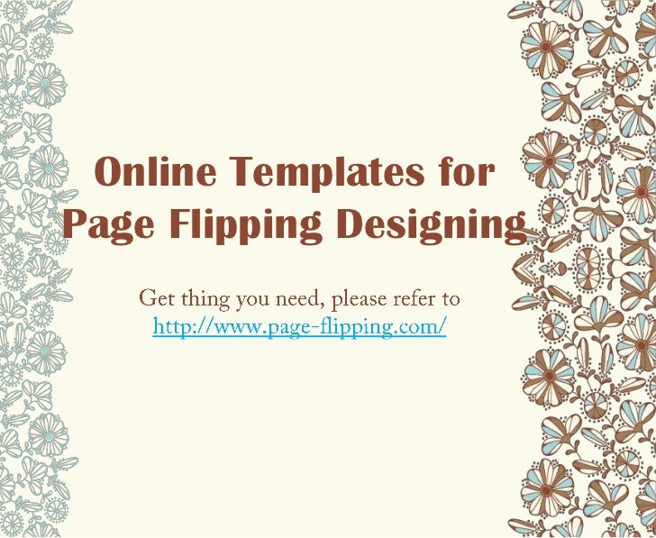Online Templates forPage Flipping Designing