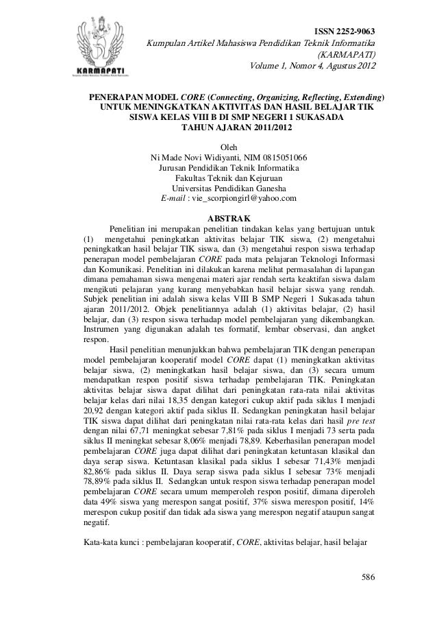 ISSN 2252-9063                 Kumpulan Artikel Mahasiswa Pendidikan Teknik Informatika                                   ...