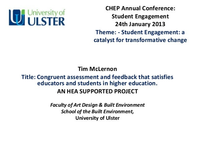 CHEP Annual Conference:                                   Student Engagement                                    24th Janua...