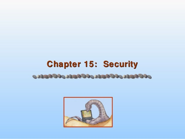 Chapter 15: SecurityChapter 15: Security