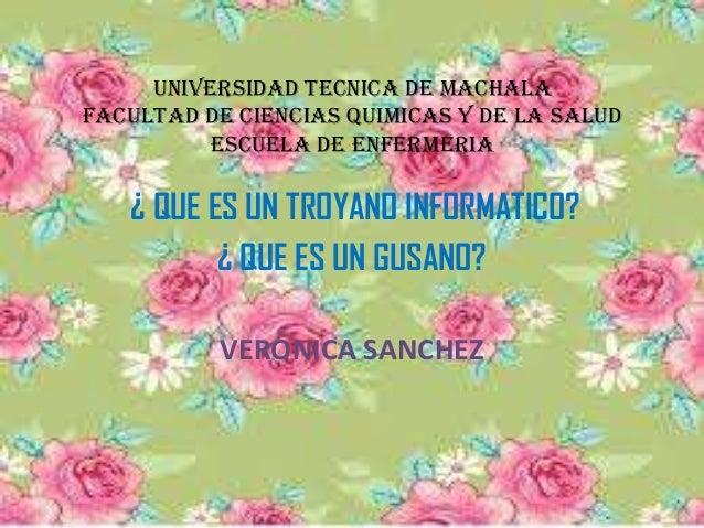 UNIVERSIDAD TECNICA DE MACHALA FACULTAD DE CIENCIAS QUIMICAS Y DE LA SALUD ESCUELA DE ENFERMERIA ¿ QUE ES UN TROYANO INFOR...