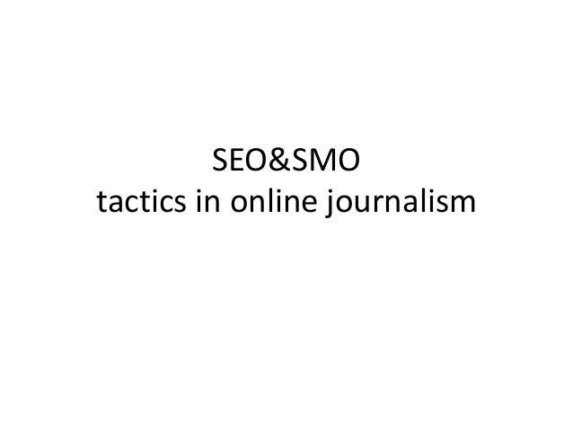SEO&SMO tactics in online journalism