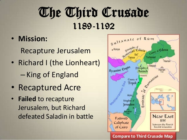 compare richard and saladin Richard the lionheart, 1191 battling the saracens  saladin proposed that richard release his prisoners in return for part of the ransom with the remainder to be.