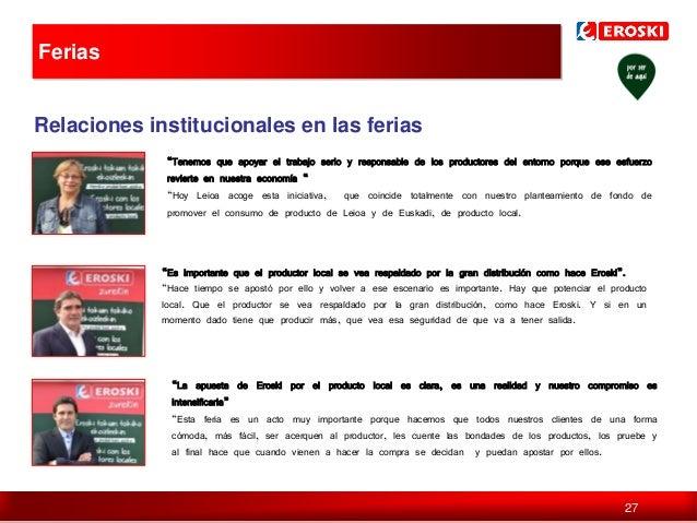 """Ferias  Relaciones institucionales en las ferias """"Tenemos que apoyar el trabajo serio y responsable de los productores del..."""