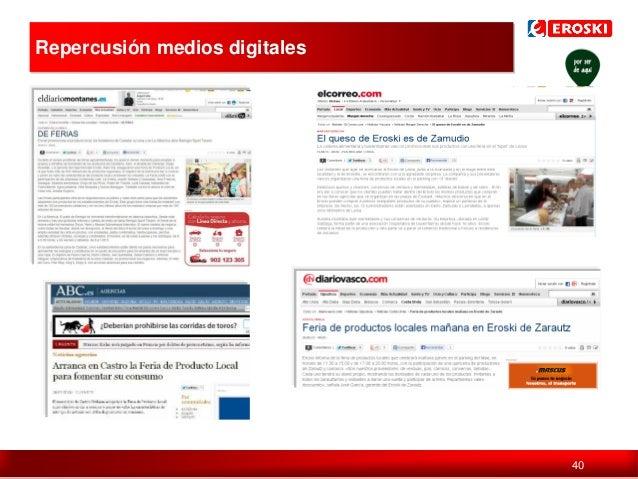 Repercusión medios digitales  Política de comunicación en digital  40