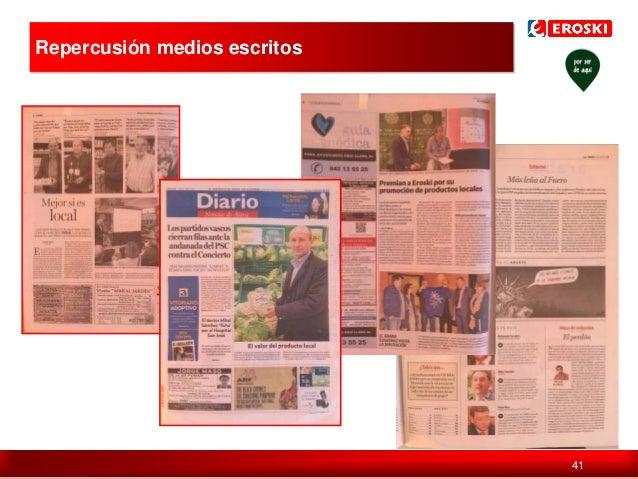 Repercusión medios escritos  Política de comunicación en digital  41