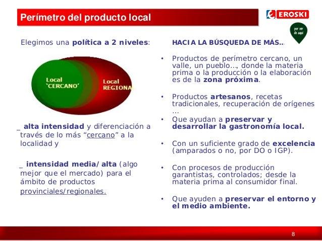 Perímetro del producto local Elegimos una política a 2 niveles:  HACIA LA BÚSQUEDA DE MÁS…  •  •  _ alta intensidad y dife...