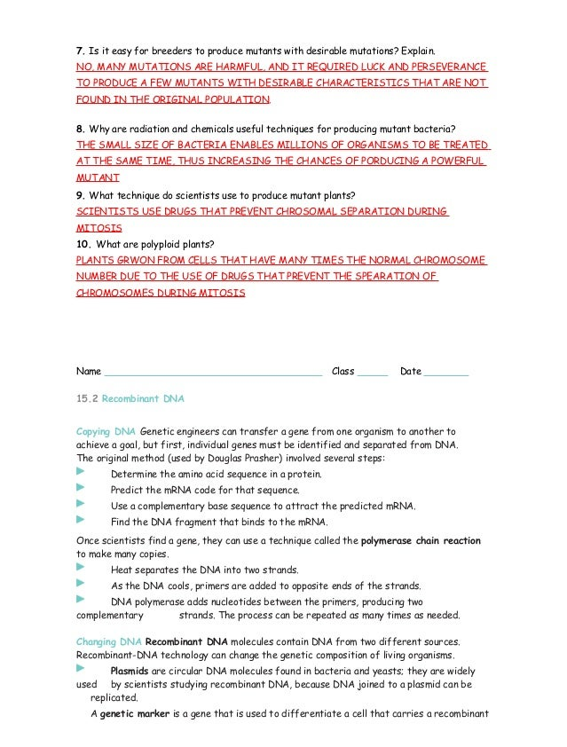 15 1 3 study guide ans rh slideshare net study guide section 2 dna technology continued answer key study guide section 2 dna technology continued answer key