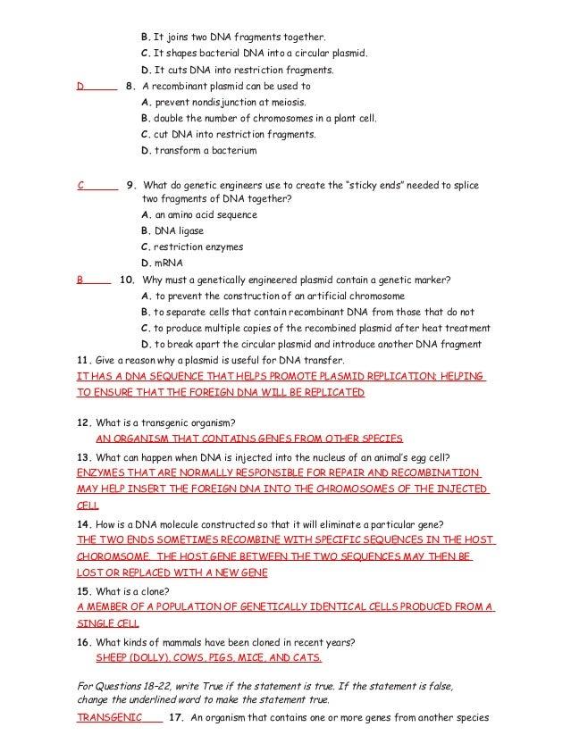 15 1 3 study guide ans rh slideshare net chapter 15 genetic engineering study guide answer key chapter 13 genetic engineering study guide answer key