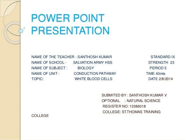 White blood cells power point presentation name of the teacher santhosh kumar standard ix name of school toneelgroepblik Images