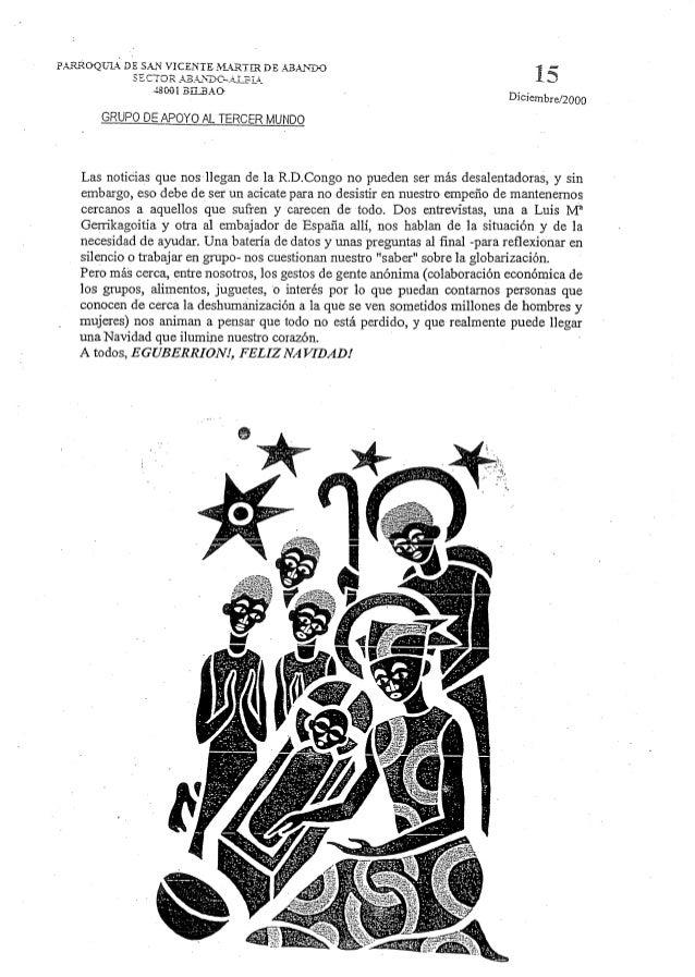 """.55' """"EC- 48001 BEAO  Psïi-ZROQTJÏA;  DE SAN VICENTE AÏARTZR DE  Í f;  x. )  Diciembre/2000    Las noticias que nos llegan..."""