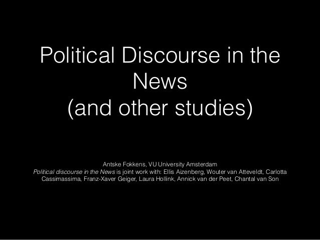 Political Discourse in the News 