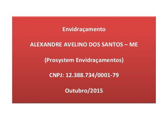 Envidraçamento  ALEXANDREAVELINODOSSANTOS–ME  (ProsystemEnvidraçamentos)  CNPJ:12.388.734/0001-79  Outubro/...