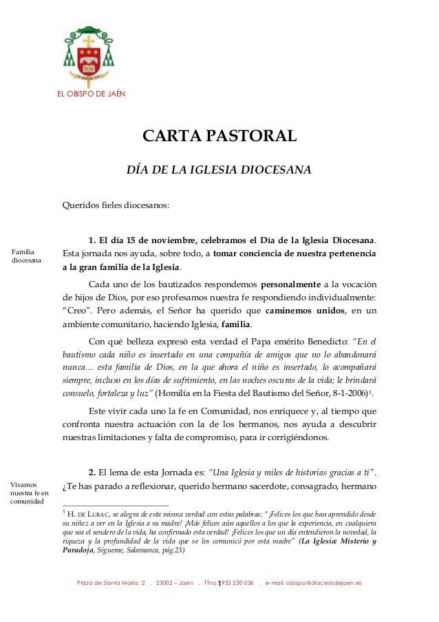 carta pastoral d u00cda de la iglesia diocesana