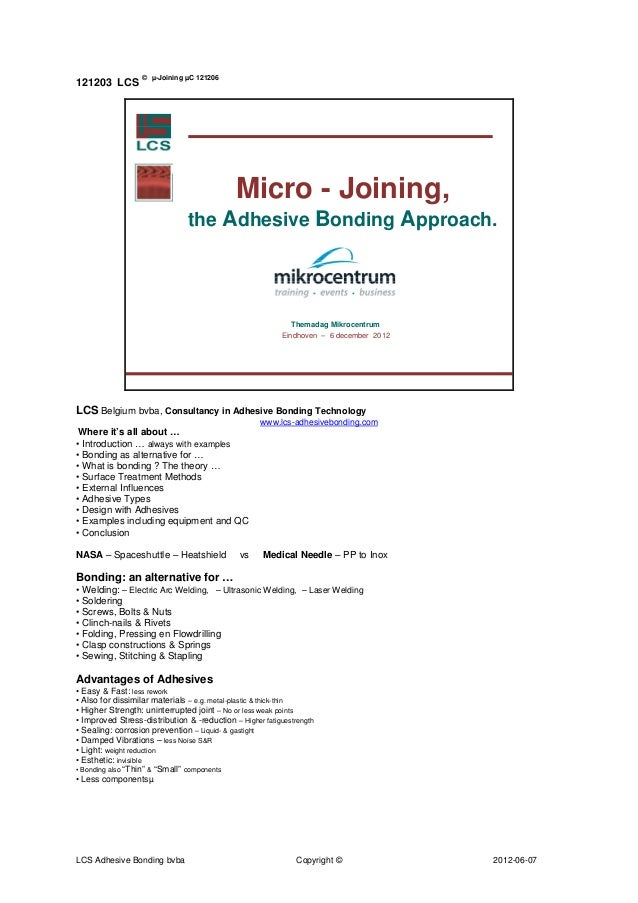 © µ-Joining µC 121206121203 LCS                                             Micro - Joining,                              ...