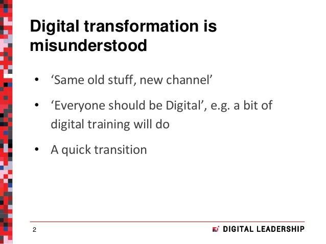 Digital transformation | Panel: the death of the digital specialist? | Digital conference | 27 October 2016 Slide 2