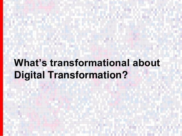 Digital transformation | Panel: the death of the digital specialist? | Digital conference | 27 October 2016 Slide 3