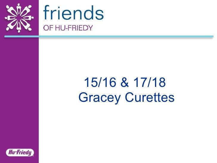 15/16 & 17/18  Gracey Curettes
