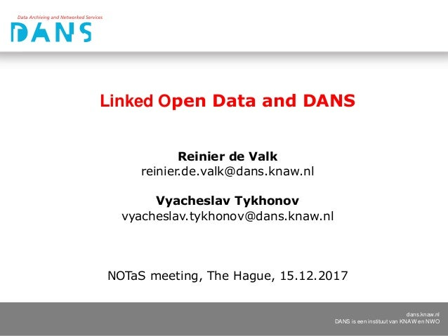 Linked Open Data and DANS