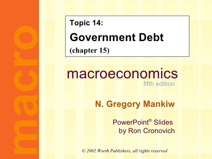 Topic 14: Government Debt (chapter 15)
