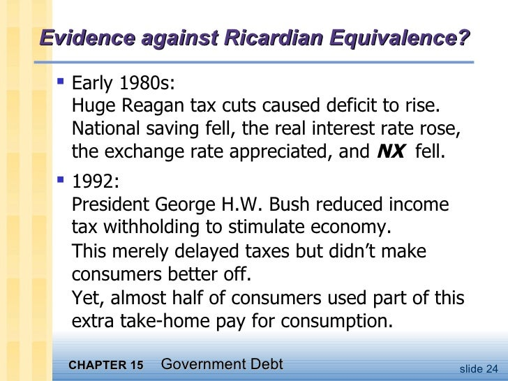 To understand the ricardian equivalence view