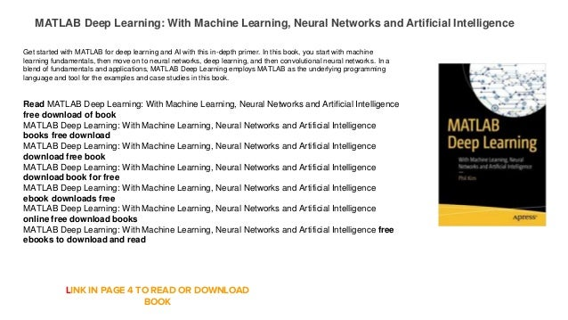 MATLAB Deep Learning: With Machine Learning, Neural Networks and Arti…